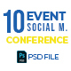 Event & Conference 10 Social Media Post - GraphicRiver Item for Sale