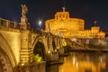 The famous Castel Sant Angelo and the Sant Angelo bridge - PhotoDune Item for Sale