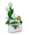 Easter vase from a flower arrangement on white background - PhotoDune Item for Sale