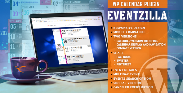 EventZilla – Event Calendar WordPress PluginPrice : $15