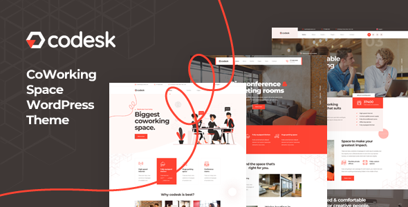 Codesk – Creative Office Space WordPress Theme Preview