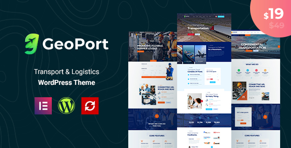 Geoport – Transport & Logistics WordPress Theme Preview