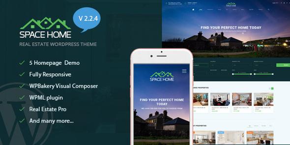 Space Home - Real Estate WordPress Theme