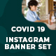 COVID-19 Instagram Banner Templates - 05 Designs - GraphicRiver Item for Sale