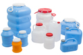 Plastic cans and barrels for water on a white isolated background - PhotoDune Item for Sale