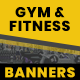 Gym and Fitness Web Banner Set - GraphicRiver Item for Sale