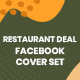 Restaurant Deals Facebook Cover Set - 05 Designs - GraphicRiver Item for Sale