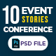 Event & Conference 10 Instagram Stories - GraphicRiver Item for Sale