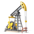 Oil pump jack isolated on white background. - PhotoDune Item for Sale