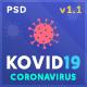 KOVID19 – Coronavirus (COVID-19) Prevention & Informatics PSD Template - ThemeForest Item for Sale