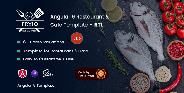 Fryio - Angular 9 Restaurant & Cafe Template