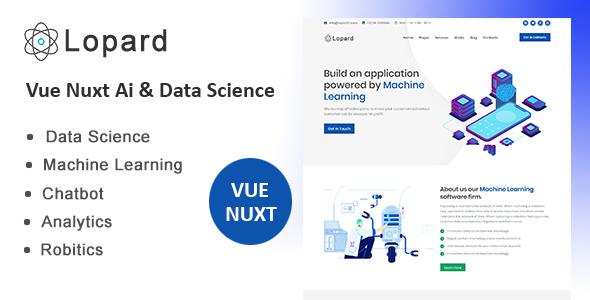 Lopard - Vue Nuxt Data Science & AI Template
