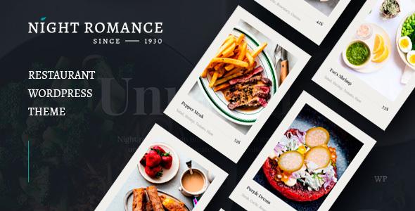 Nightromance – Restaurant WordPress Theme Preview