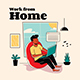 Family At Home Graphics Illustration - GraphicRiver Item for Sale