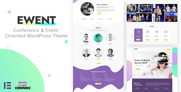 Ewent – Conference & Event Oriented WordPress Theme Preview