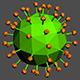 Coronavirus 01 Low Poly + Anim - 3DOcean Item for Sale