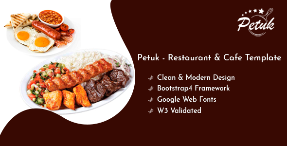 Petuk - Restaurant & Cafe Template