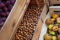 Fruits in crates on a grocery stall - PhotoDune Item for Sale
