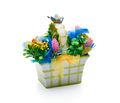 Easter basket from a flower arrangement on white background - PhotoDune Item for Sale