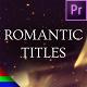 Golden Romantic Titles - Premiere Pro | Mogrt - VideoHive Item for Sale