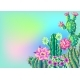 Background with Cacti and Flowers - GraphicRiver Item for Sale