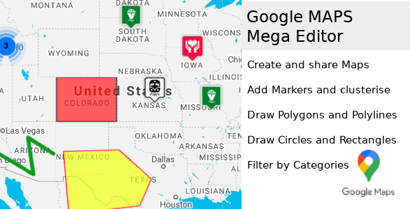 Google Maps Multi-Purpose Mega Editor php script v5.4.0