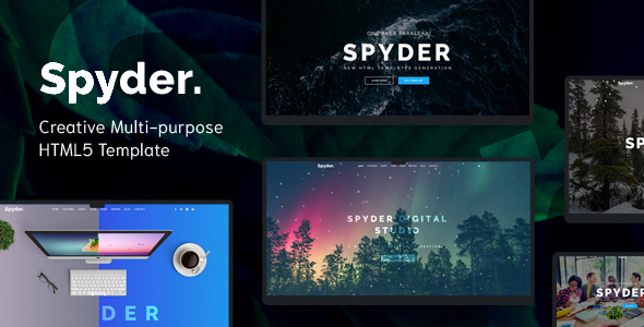 Spyder - One Page Multipurpose HTML Template