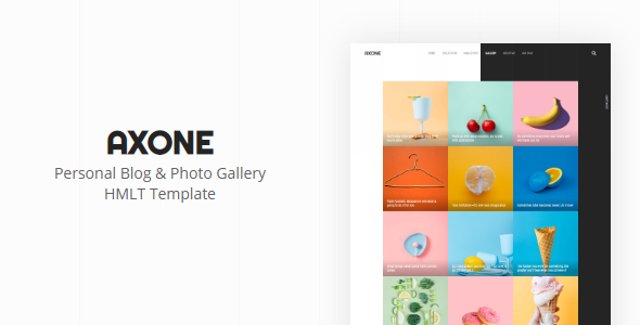 AXONE - Personal Blog & Photo Gallery Template
