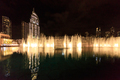 dancing fountains in Dubai in night time - PhotoDune Item for Sale