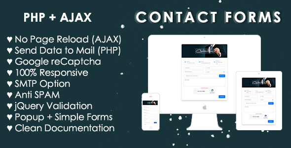 Bootstrap 4 Contact Form (AJAX+PHP)