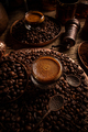 Glass cup with espresso coffee - PhotoDune Item for Sale