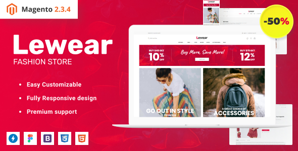 Lewear - Fashion eCommerce Design Magento Theme