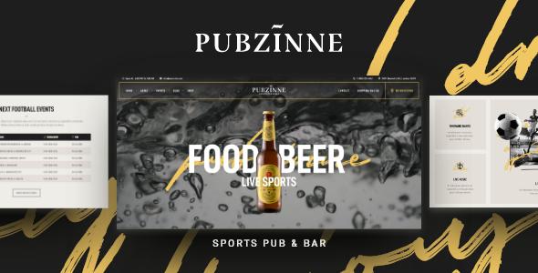 Pubzinne – Sports Bar WordPress Theme Preview