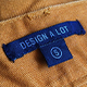 Printed Blue Canvas Label on Yellow Jeans - GraphicRiver Item for Sale