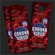 Coronavirus Covid-19 Debate Door Hanger - GraphicRiver Item for Sale