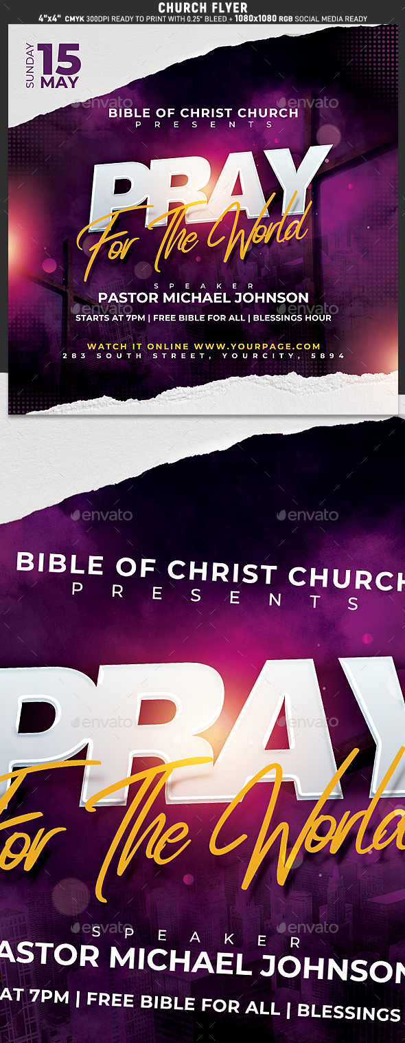 Church Flyer Templates From Graphicriver
