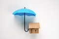 House under blue color umbrella - PhotoDune Item for Sale