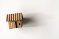 Model of cardboard house isolated white background - PhotoDune Item for Sale
