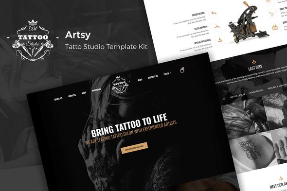 Artsy - Tattoo Studio Template Kit