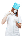 nurse prepares a vaccine for injection - PhotoDune Item for Sale