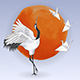 Japanese Dancing Crane and Paper Birds - GraphicRiver Item for Sale
