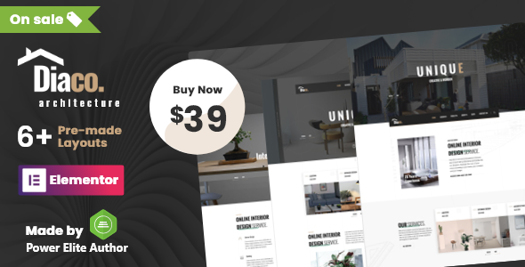 Diaco - Architecture & Interior Design Elementor WordPress Theme