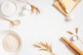 White Background with Ingredients for Baking - PhotoDune Item for Sale
