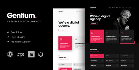 Gentium – A Creative Digital Agency WordPress Theme Download