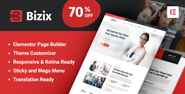 Bizix – Corporate and Business WordPress Theme Preview