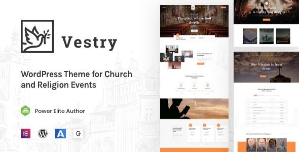Vestry – Church WordPress Preview