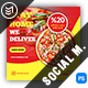 Pizza House Social Media Templates - GraphicRiver Item for Sale