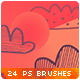 24 Hand-drawn Clouds Vector Doodles Photoshop Brushes - GraphicRiver Item for Sale