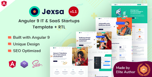 Jexsa - Angular 9 IT & SaaS Startups Template