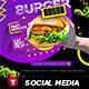Burger Social Media Pack - GraphicRiver Item for Sale